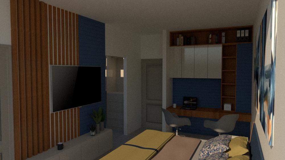 master bedroom with studio