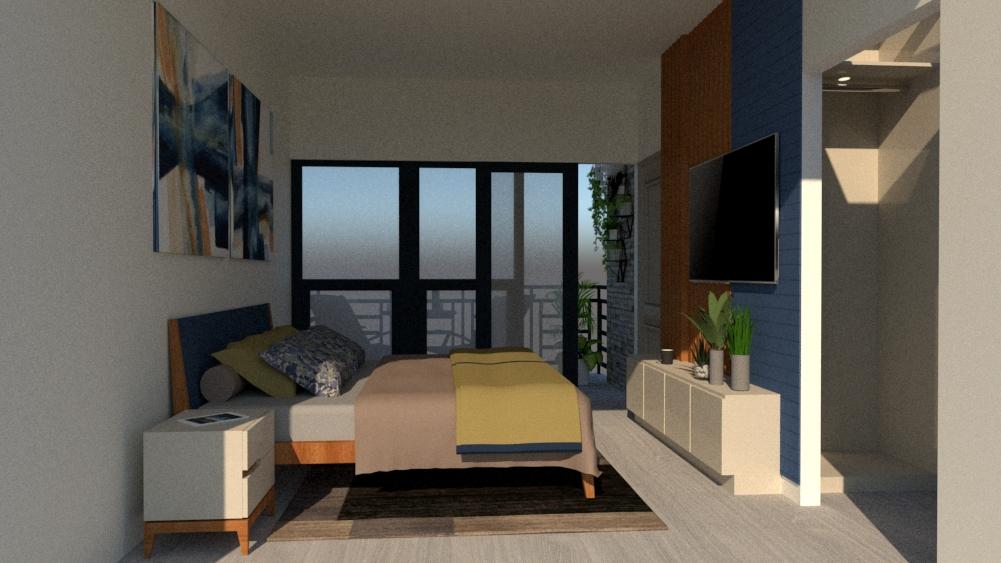 master bedroom 3d design