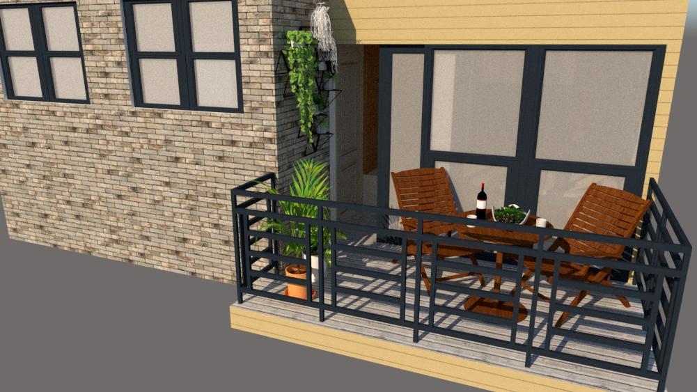 terrace outside of bedroom