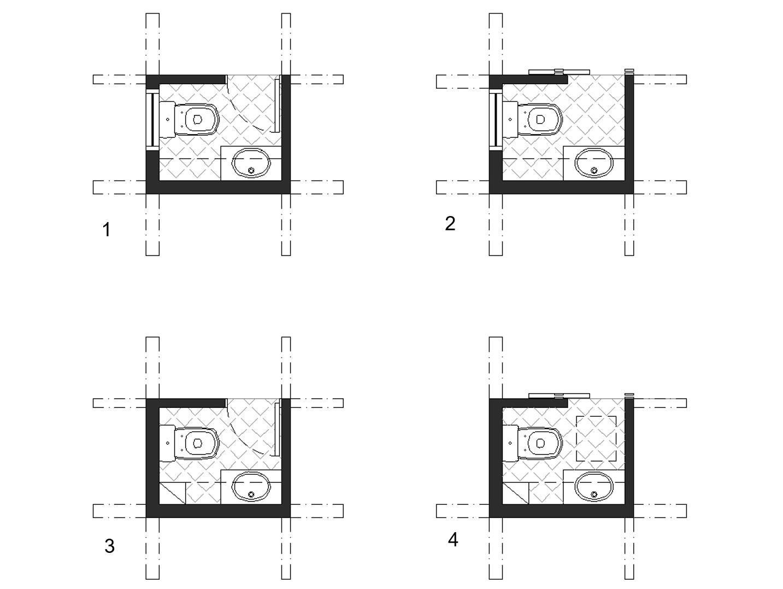 powder room floor plan