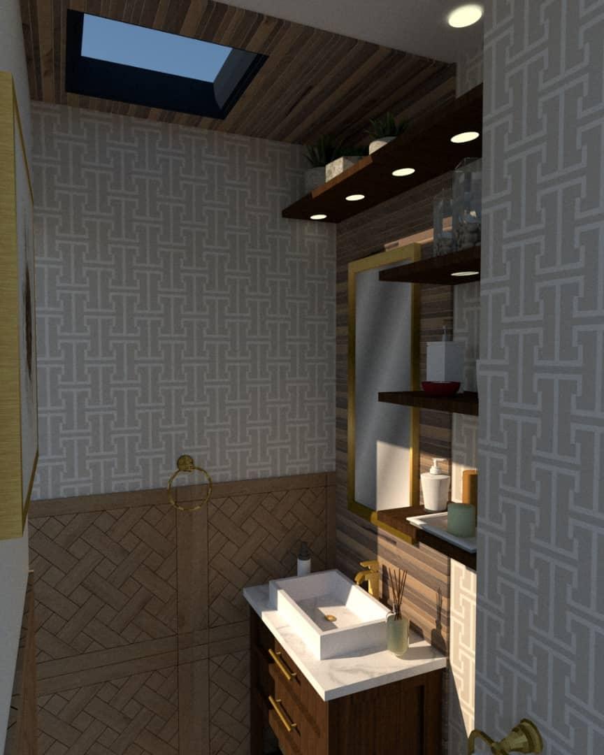 powder room 3d render