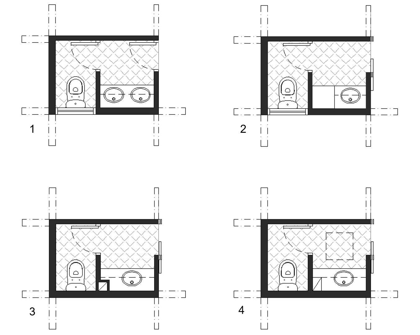 powder room floorplan divisions