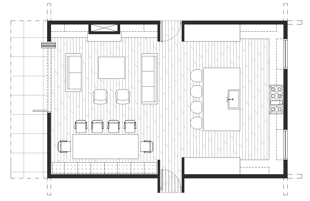 Creating an open floor plan kitchen living room dining room