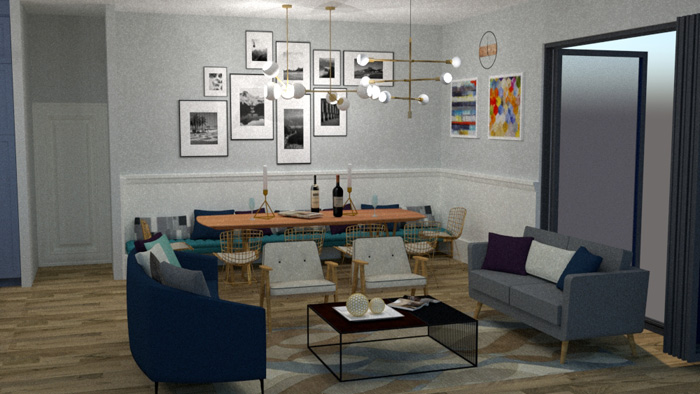 dining and living design