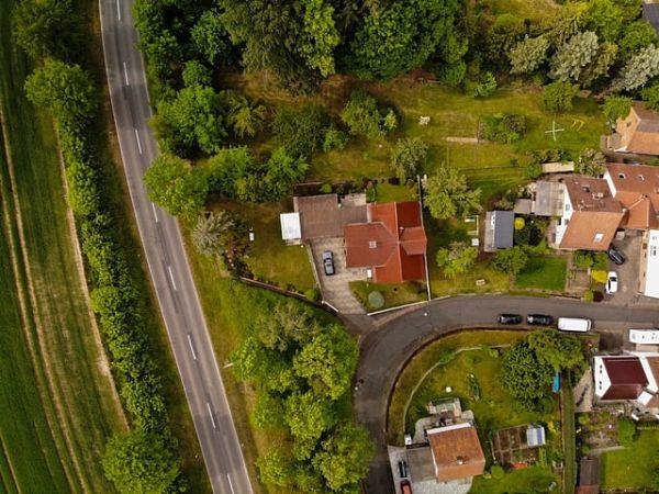 old residential neighborhood