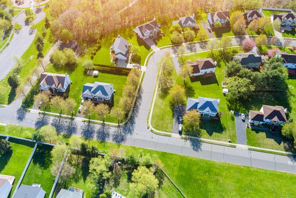 property lines in neigborhood