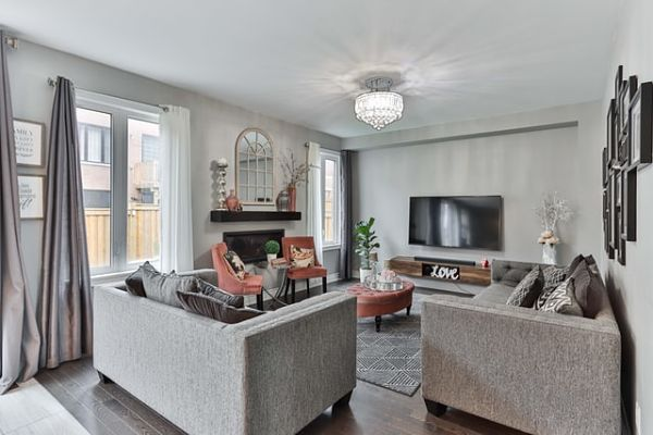 living room tv height