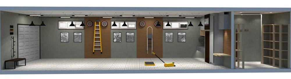 garage floorplan full lateral view