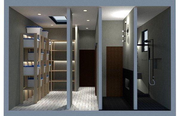 garage floor plan storage