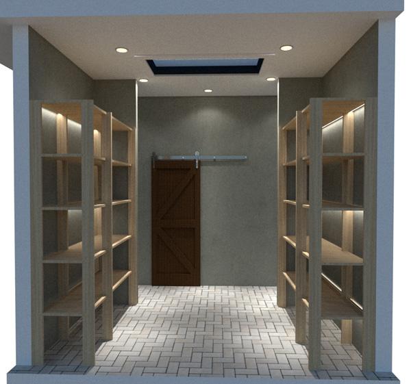 garage floor plan inside storage