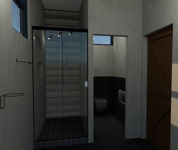 garage bath shower