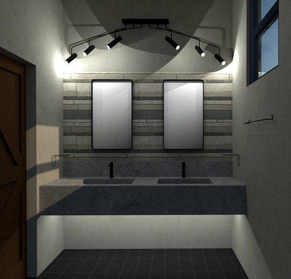 garage bath mirrors
