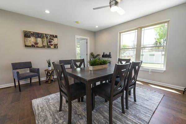 dark brown dining table set