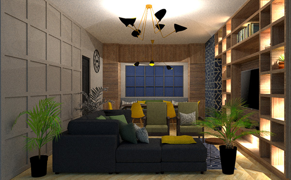 small living room lounge