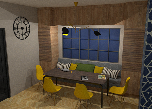 small living room and dining room