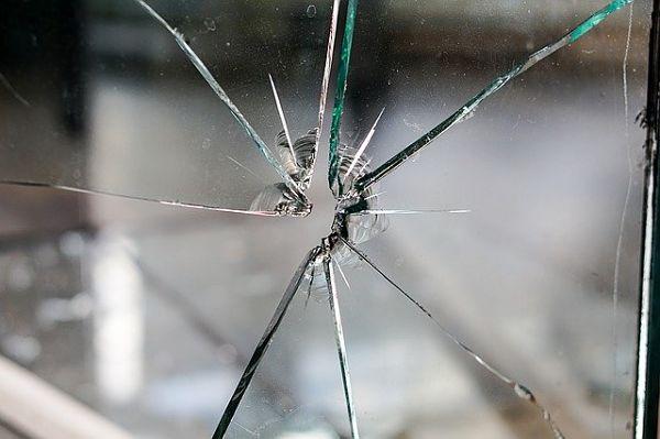 Cracked window panes