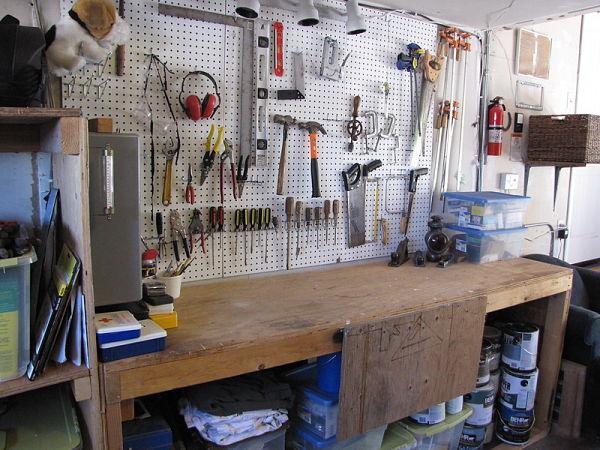 garage pegboard wall