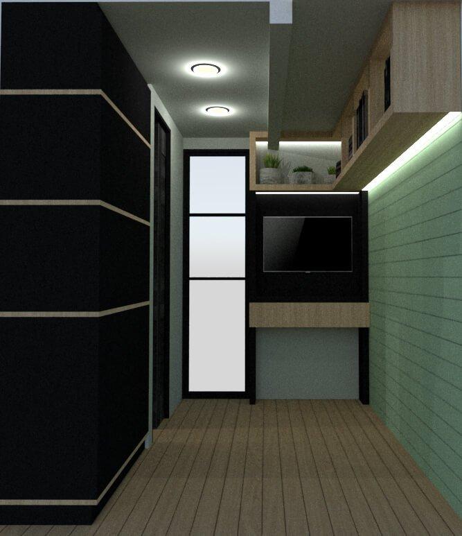 Tiny house secondary bedroom posterior