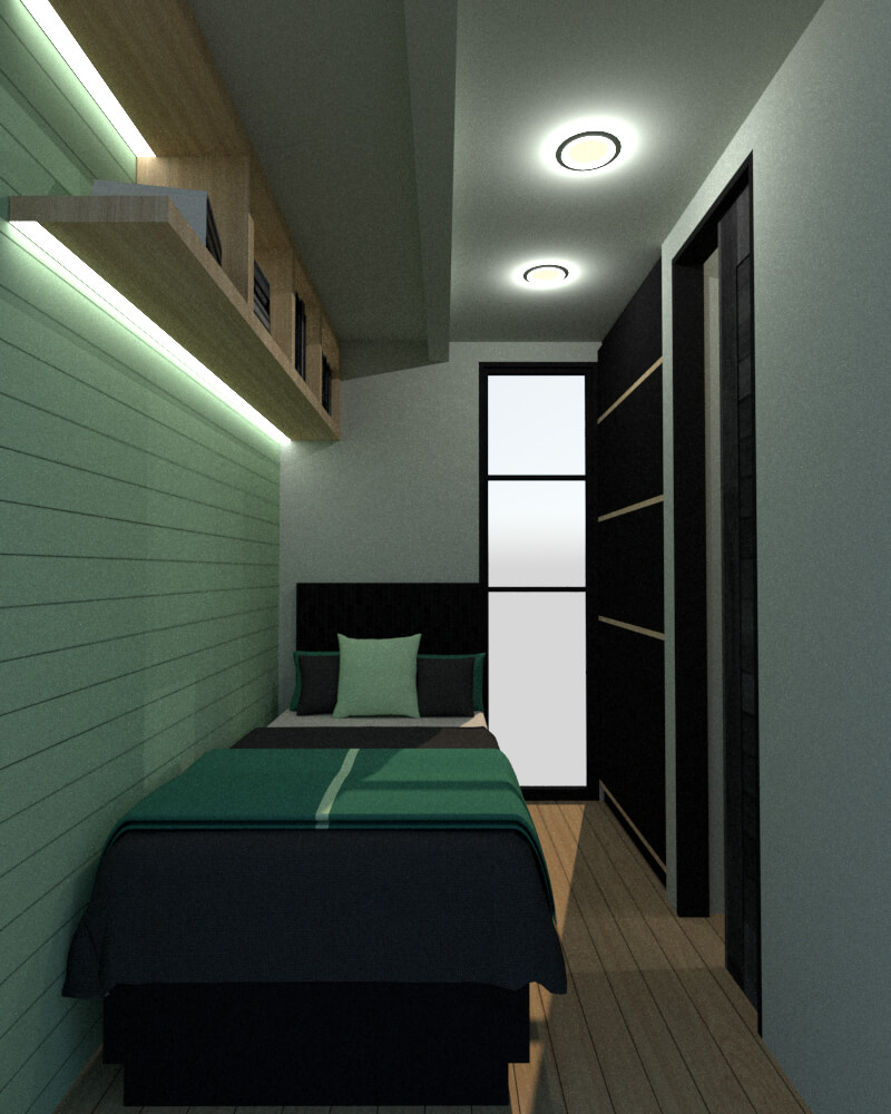 Tiny house secondary bedroom view frontal
