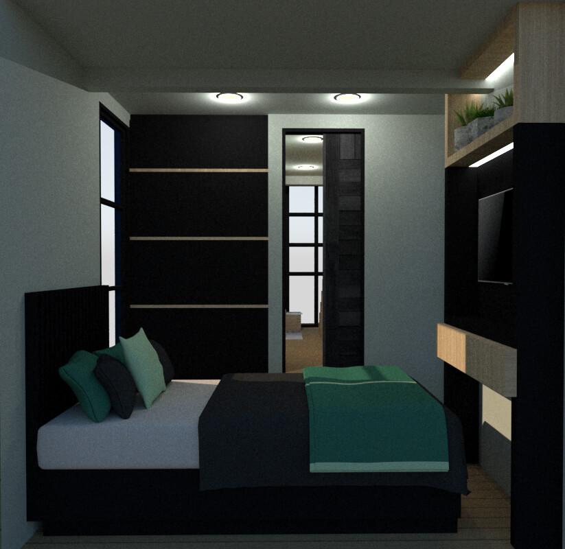 Tiny house secondary bedroom view
