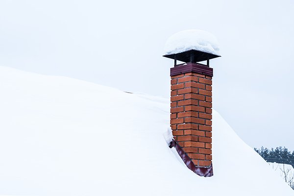chimney crown protecting against snow